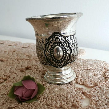 Small Goblet, Vintage Tiny Metal Cup, Wine Cup, Judaica, Silver Kiddush Cup, Baby boy Gift, Gift for him, Jewish holiday