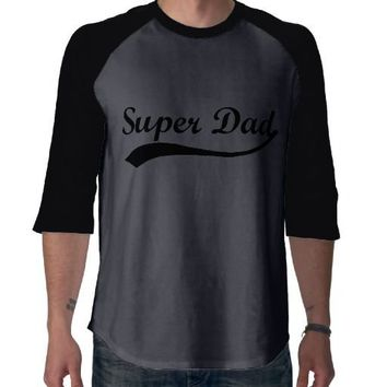 Super Dad Sporty Swash Father's Day T-Shirt from Zazzle.com