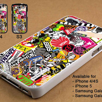 Stiker Bomb Design for iPhone 4/4s/5 Case, Samsung Galaxy S3/S4 Case