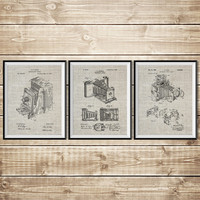 Antique Camera Decor, Patent Print Set, Camera Wall Print, Vintage Camera Decor, Camera Wall Decor, Camera Patent Poster, INSTANT DOWNLOAD