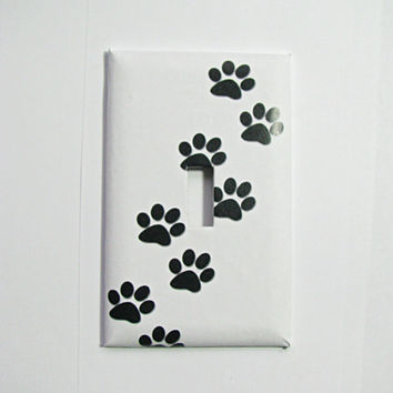 Light Switch Cover - Light Switch Paw Prints Animal Tracks