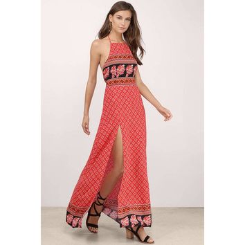 Spice Market Halter Maxi Dress by MINKPINK