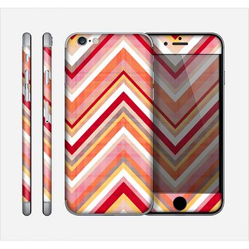 The Vibrant Red & Yellow Sharp Layered Chevron Pattern Skin for the Apple iPhone 6