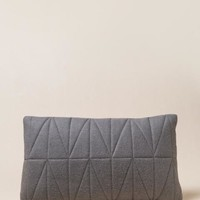 Grey Quilted Felt Pillow