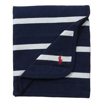 Ralph Lauren Baby YD Rugby Blanket French Navy Multi - Zappos.com Free Shipping BOTH W