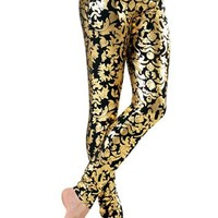 Metallic Foil Print Ankle-Length Leggings - Balera