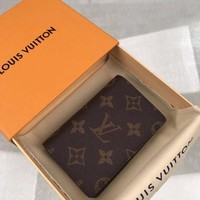 Kuyou Lv Louis Vuitton Gb19710 M60502 Monogram Personalization Hotstamping Pocket Organizer 7 X 11 X 1 Cm