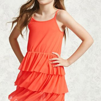 Girls Layered Mesh Dress (Kids)