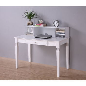 Home Loft Concept Elegant Writing Desk with Hutch