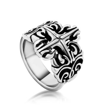 Gift New Arrival Shiny Fashion Men Ladies Stylish Strong Character Titanium Vintage Jewelry Ring [6526795651]