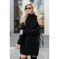 Second Look Black Sweater Dress