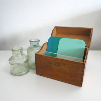 Wood Dovetail Box Industrial Style Storage Box Made in the USA