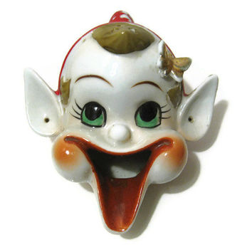 Vintage Japan Porcelain Elf Ashtray