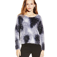 TWO by Vince Camuto Tie-Dye Eyelash Sweater - Vanilla