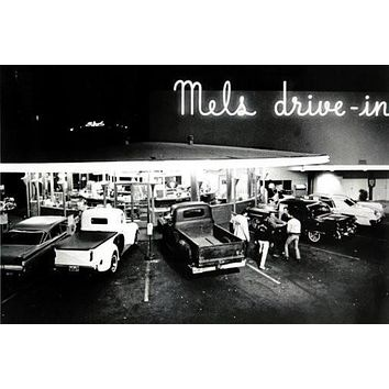 american graffiti poster Metal Sign Wall Art 8in x 12in
