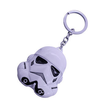 2016 New Hot Star Wars 3 Colors Keychain StormTrooper Helmet Storm Trooper Pendant Key Chain Darth Vader Mask Superhero Keyring