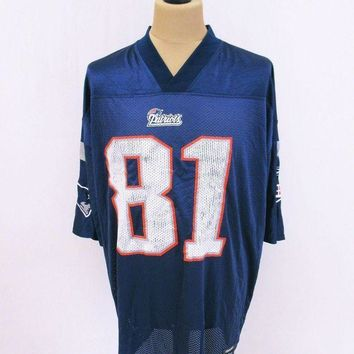 CREYON NFL New england Patriots American Football Kit Jersey Top T-Shirt XL Outsized