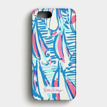 Lilly Pulitzer Resort White Red Right Return Inspired iPhone SE Case