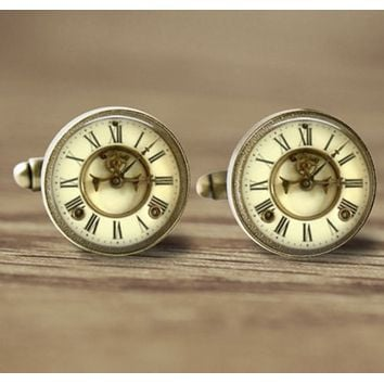 Time Clock Novelty Cuff Links