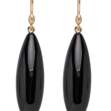 Ted Muehling Onyx Long Berry Earrings