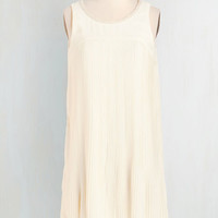 Mid-length Sleeveless Shift Dream Twirls Dress in Ivory