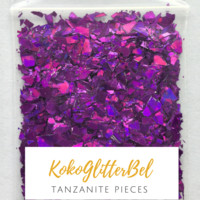 Holographic Glitter Pieces- Tanzanite