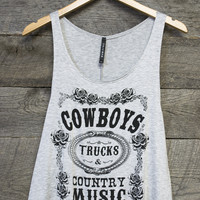 Cowboys, Trucks, & Country Music Graphic Tee