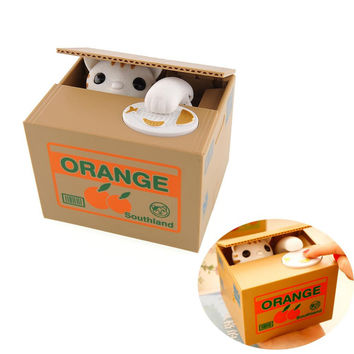 Itazura Automatic Stealing Coin Cat Kitty Coins Penny Cents Piggy Bank Saving Money Box Kids Gift Tirelire Alcancia