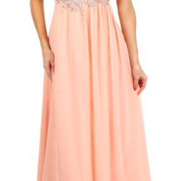 One Shoulder Ruched Chiffon Dusty Pink Long Prom Dress