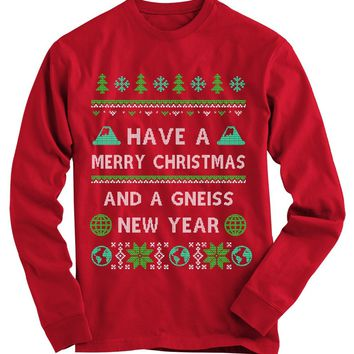 Gneiss New Year Geology Ugly Christmas Sweater
