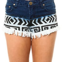 Reverse The Tribal Print Ombre Short : Karmaloop.com - Global Concrete Culture