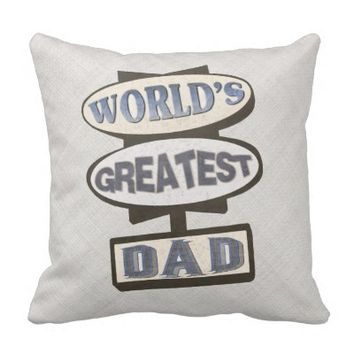 Father's Day Best Dad Hotel Sign Throw Pillow