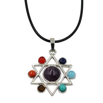 Hinduism Mandala Zen Tree Of Life Healing Reiki Meditation 7 Chakras Necklaces&Pendants Yoga Jewelry collier femme  bijoux Women style18
