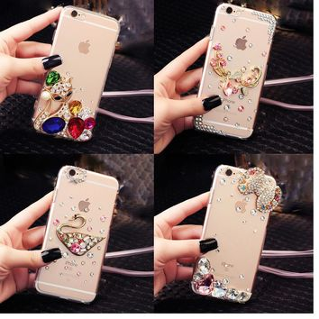 Glitter Rhinestone Case Cover For Samsung galaxy J7 2015 J700, Acrylic mobile phone shell Cover Diamond Phone Cases