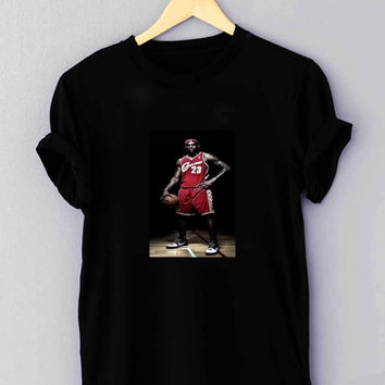 "Lebron James Standing NBA Nike Basketball - T Shirt for man shirt, woman shirt ""NP"""