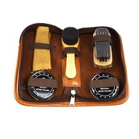 Portable Travel Shoe Shine/Cleaning Kit With Storage Bag