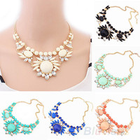Women Fashion Mixed Style Irregular Bubble Bib Choker Statement Necklaces & pendants 032P