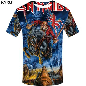 KYKU Brand iron maiden T shirt United Kingdom Tshirt war T-shirt artillery Tshirt Skull clothing 3d t shirt men Gothic clothes