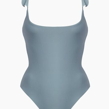 Lilian Ruffle One Piece Swimsuit - Steel