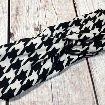 Houndstooth Turban Headband