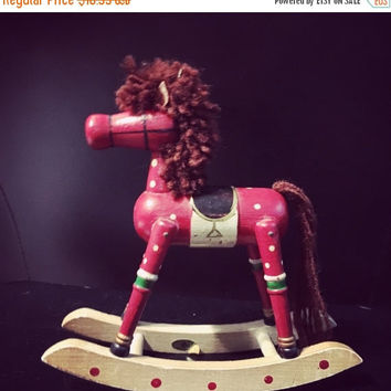 5 DAY SALE (Ends Soon) Vintage Russ Wood Rocking Horse