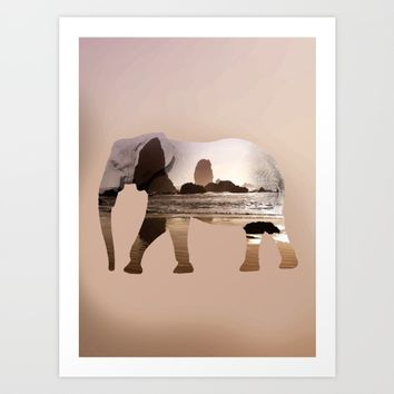 Zen elephant Art Print by Sagacious Design