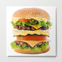 Cheeseburger YUM Metal Print by All Is One