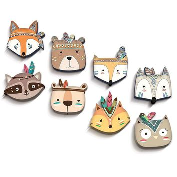 Wooden Animal Hanging Wall Decorations