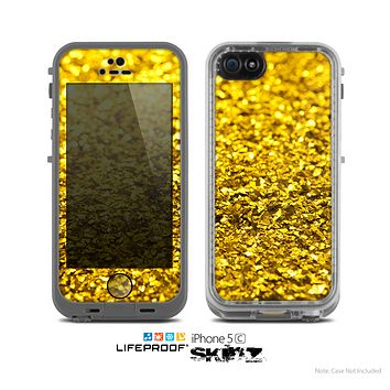 The Gold Glimmer Skin for the Apple iPhone 5c LifeProof Case
