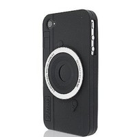 Cool Camera Design Silicone Case Cover for Apple iPhone 4 4G 4S AT and T Verizon Black