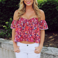 The Sweetest Floral Crop Top