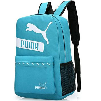 PUMA trendy men and women fashion high quality backpack F-A30-XBSJ Light blue