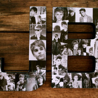 JB is for Justin Bieber - 12 inch Justin Bieber Collage Letters