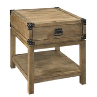 Natural Trunk End Table